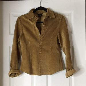 Suede western shirt , size small